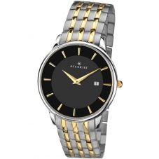 Accurist Mens Two Tone Bracelet Watch 7261