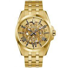Bulova Mens Sutton Automatic Strap Watch 97A162