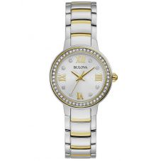Bulova Ladies Two Tone Crystal Watch 98L271