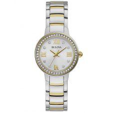 Bulova Ladies Two Tone Crystal Watch 98L271