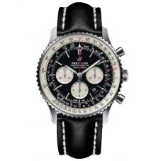 Breitling Mens Navitimer B01 Chronograph 46 Leather Strap Watch AB0127211B1X1
