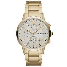 Emporio Armani Mens Renato Gold Tone Chronograph Watch AR11332