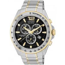 Citizen Mens Chronograph Two Tone Bracelet Watch AT2074-58E