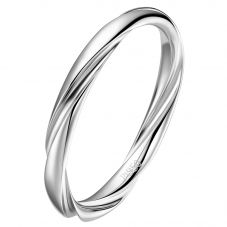 Fei Liu Aurora Bridal Platinum Twist Wedding Ring (M) AUR-950P-006-0000