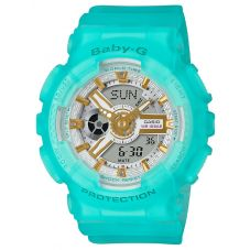 Casio Ladies Baby G Seaglass Strap Watch BA-110SC-2AER