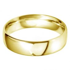 18ct Gold 6.0mm Court Wedding Ring BC6.0 18Y