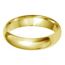 18ct Gold 5.0mm D-Shape Wedding Ring BD5.0 18Y
