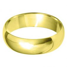 18ct Gold 6.0mm D-Shape Wedding Ring BD6.0 18Y