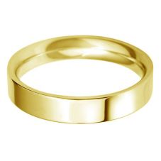 18ct Gold 4.0mm Flat Court Wedding Ring BFC4.0 18Y