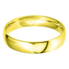 18ct Gold 4.0mm Light Court Wedding Ring BLC4.0 18Y