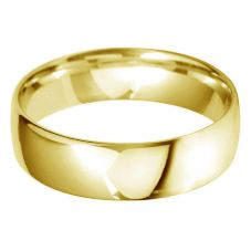 18ct Gold 6.0mm Light Court Wedding Ring BLC6.0 18Y