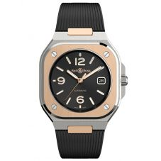 Bell & Ross Mens Automatic 18ct Gold Watch BR05A-BL-STPG/SRB