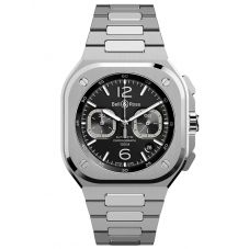 Bell & Ross Mens Instruments BR 05 Chrono Black Steel Watch BR05C-BL-ST/SST
