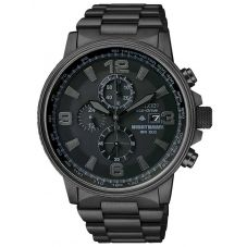 Citizen Mens Nighthawk Chronograph Black Bracelet Watch CA0295-58E