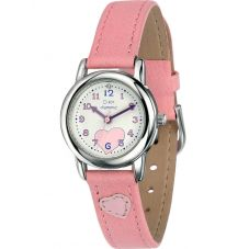 D for Diamond Easy Read Childrens Pink Watch Z783