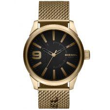 Diesel Mens Rasp Gold Tone Mesh Strap Watch DZ1899