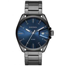 Diesel MS9 Blue Dial Gunmetal Bracelet Watch DZ1908