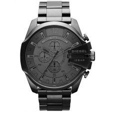 Diesel Mens Mega Chief Gry Stainless Steel Bracelet Chronograph Watch DZ4282