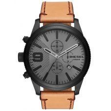 Diesel Rasp Tan Leather Strap Watch DZ4468