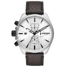 Diesel MS9 Black Leather Strap Watch DZ4505