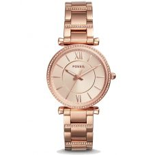 Fossil Carlie Rose Gold Tone Watch ES4301
