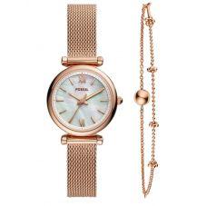 Fossil Ladies Carlie Jewellery Set Watch ES4443SET