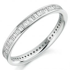 Platinum Baguette-Cut Diamond Eternity Ring (L) FET1610