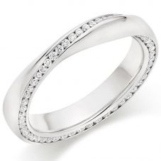 Platinum Channel-Set Diamond Twist Eternity Ring (M) FET9364
