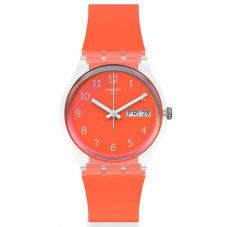 Swatch Ladies Red Away Watch GE722