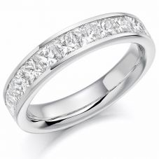 Platinum Princess-Cut Diamond Eternity Ring (N) HET1165