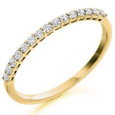 18ct Gold Claw-Set Diamond Eternity Ring (O) HET1686 18Y O