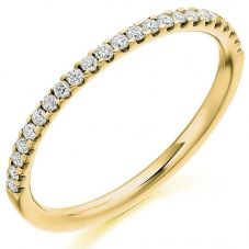 Gold Micro-Claw Set Diamond Eternity Ring (L) HET1973YG