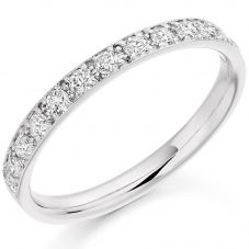 White-Gold Grain-Set Diamond Eternity Ring (L) HET2094