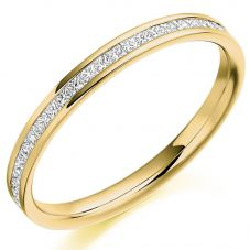 18ct Gold Princess-Cut Diamond Eternity Ring (L) HET2109 18Y L