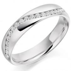 Platinum Off-Set Diamond Eternity Ring (N) HET2167