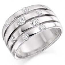 Platinum Tension-Set Four-Band Eternity Ring (N) HET2717