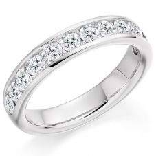 Platinum Channel-Set Diamond Spaced Eternity Ring (M) HET2867