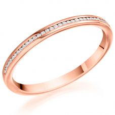 Rose-Gold Diamond Eternity Ring (L) HET8971