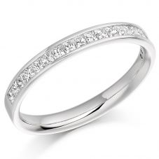 18ct White-Gold Princess-Cut Diamond Eternity Ring (T) HET993 18W T