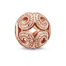 THOMAS SABO Rose Gold Plated Open Work Wave Bead K0009-415-12