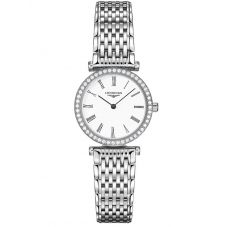 Longines Ladies La Grande Classique Diamond Set White Dial Bracelet Watch L42410116