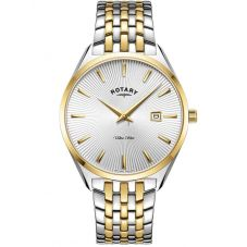 Rotary Ladies Ultra Slim 2 Tone Bracelet Watch LB08011/02