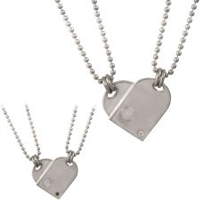 Nomination Me And You CZ DogTag Double Pendant 024202/018