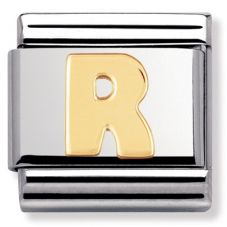 Nomination CLASSIC Gold Letters R Charm 030101/18