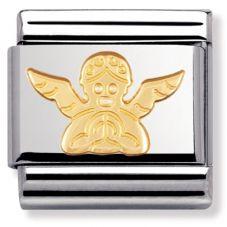 Nomination CLASSIC Gold Spirituality Angel Charm 030105/04