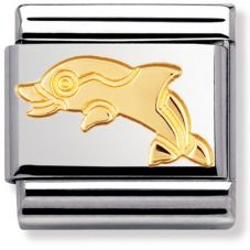 Nomination CLASSIC Gold Animals of the Sea Dolphin Charm 030113/04