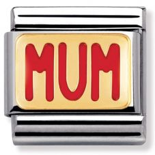 Nomination CLASSIC Gold Messages Red Mum Message Charm 030229/39