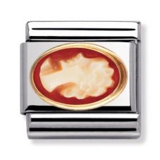 Nomination CLASSIC Gold Oval Stones Raised Cameo Charm 030504/12
