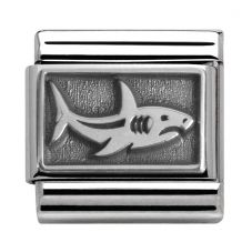 Nomination CLASSIC Silvershine Honolulu Oxidised Shark Charm 330102/13