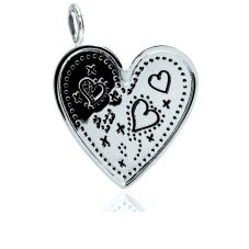 Chrysalis Silver Bliss Hearts and Kisses Tag Charm CRCN0028